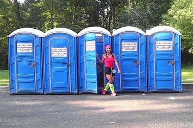 running brings bathroom stress